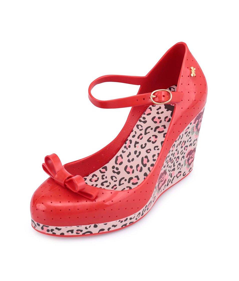 Červené plastové boty na klínku Zaxy Pop Star Queen