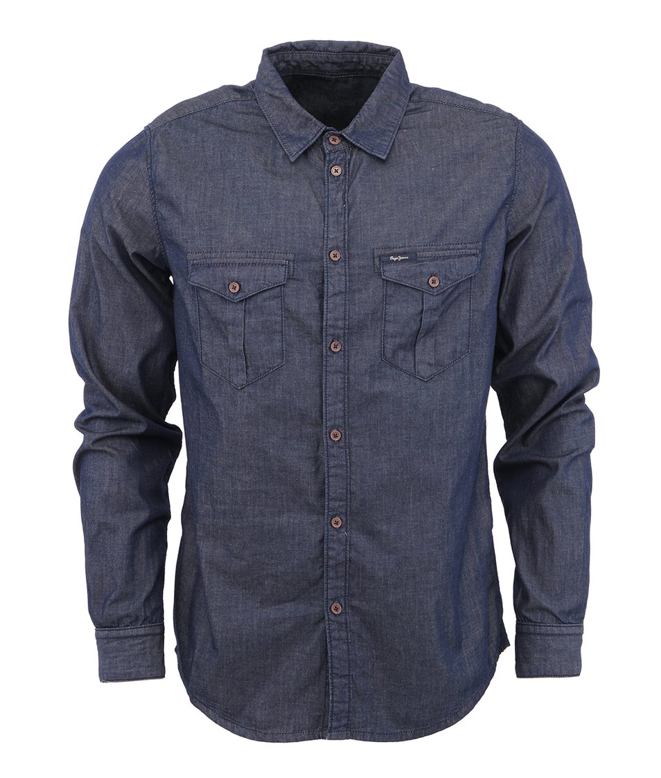 Tmavě modrá džínová košile Pepe Jeans Rogers