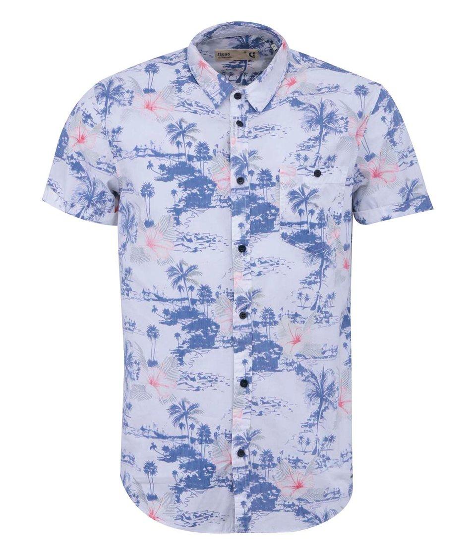 Bílá košile s tmavě modrým potiskem !Solid Nihad