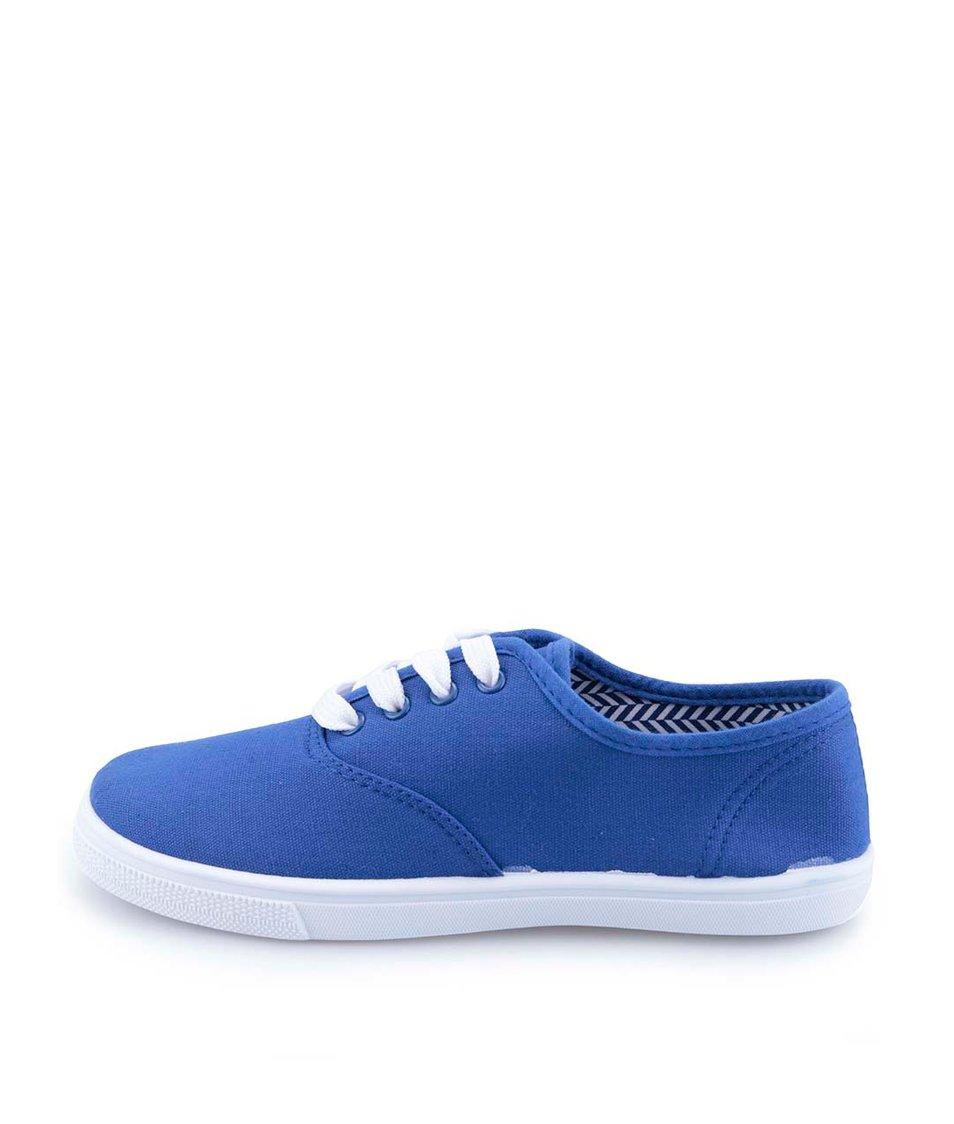 Modré dámské plátěné tenisky Refresh