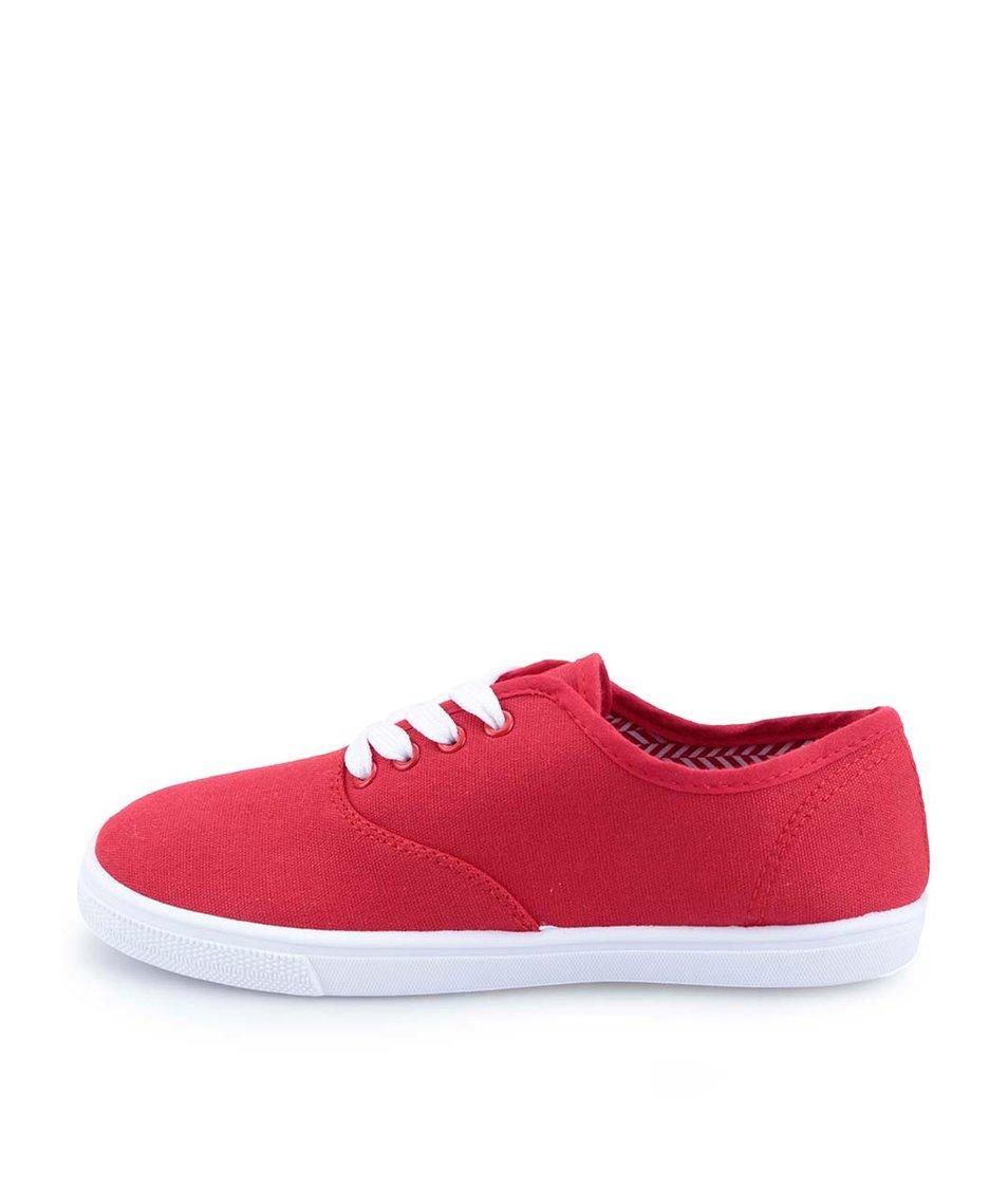 Červené dámské plátěné tenisky Refresh