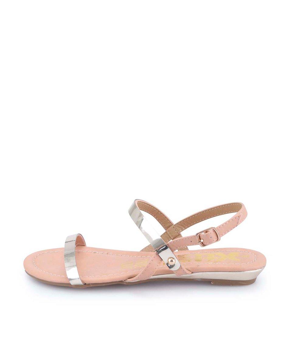 Tělovo-zlaté sandálky Xti