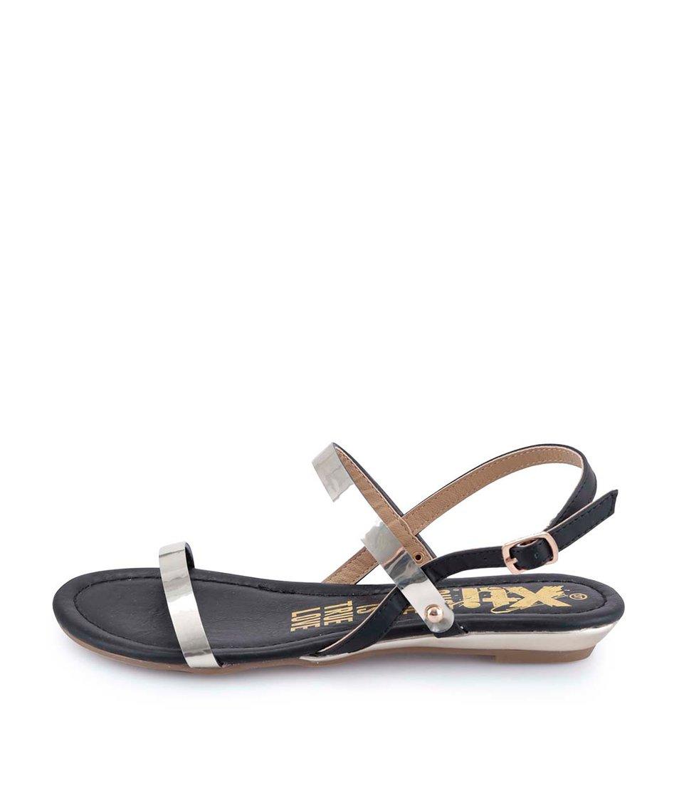 Černo-zlaté sandály Xti