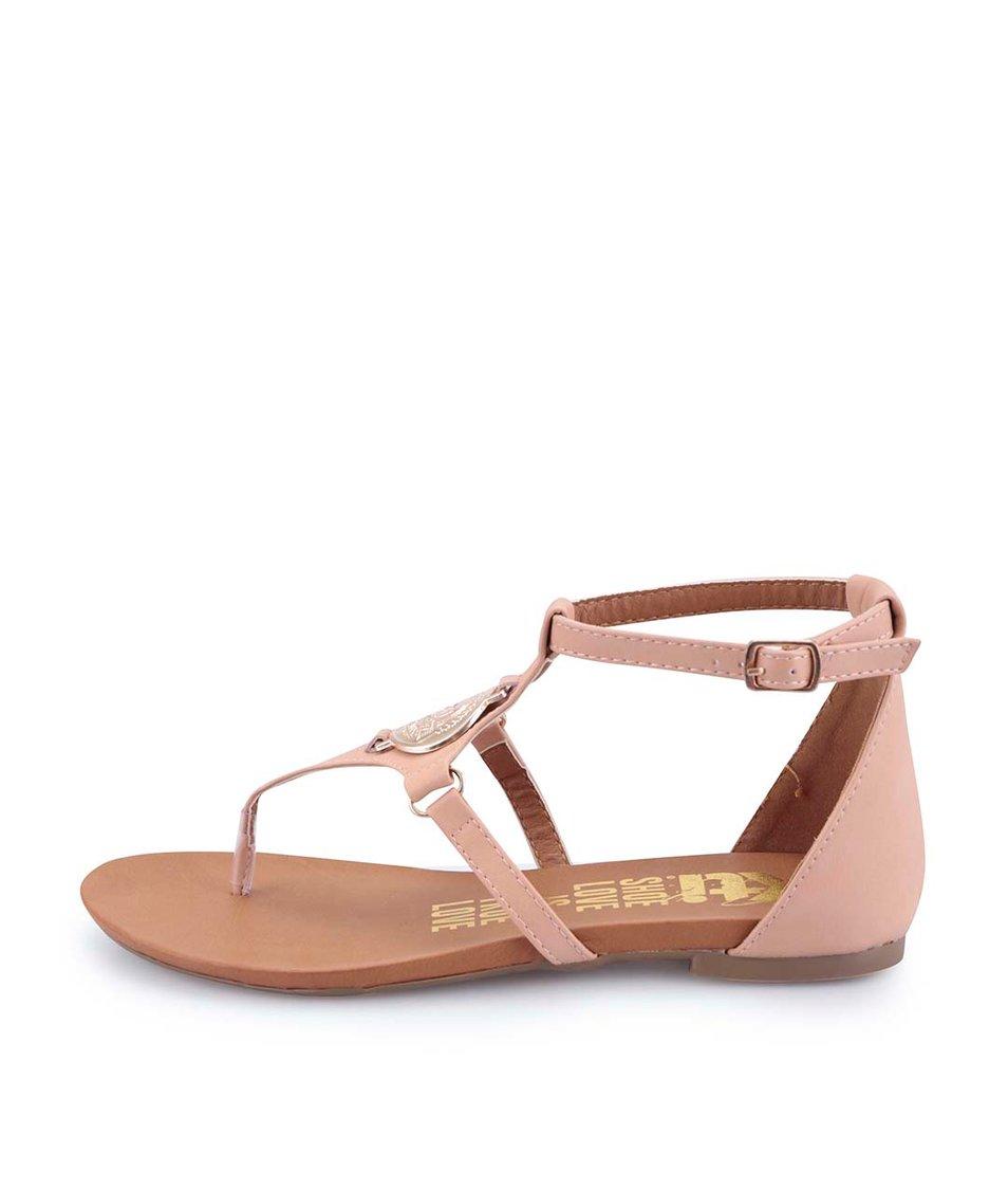 Tělové sandálky s kovovou mincí Xti