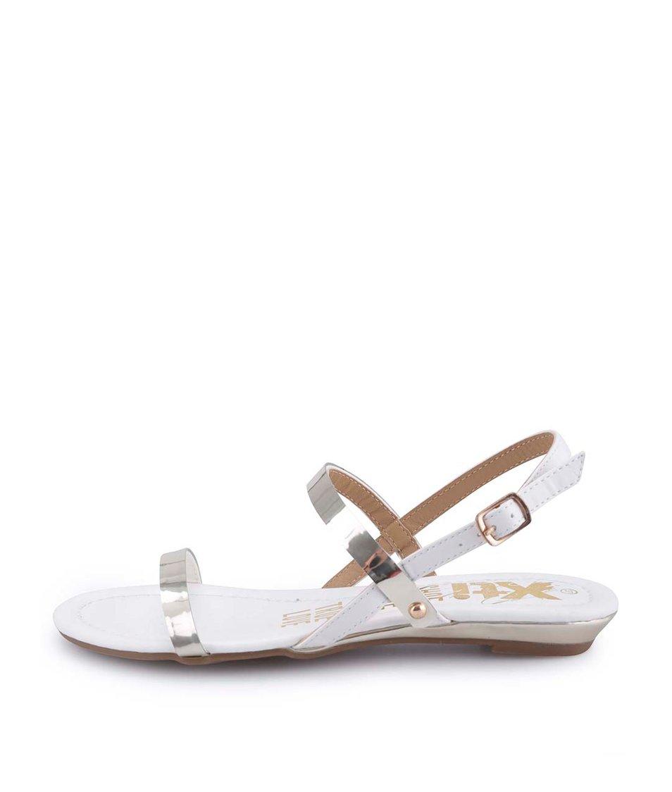 Bílo-zlaté sandálky Xti