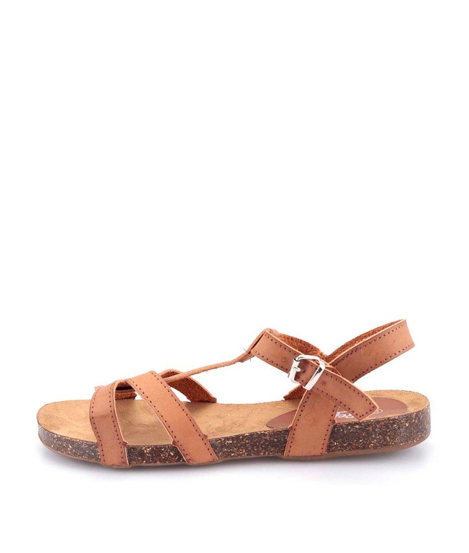 Hnědé páskové sandálky Refresh