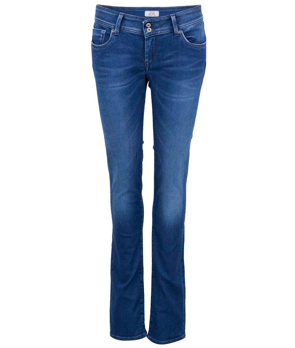 Modré dámské slim džíny Pepe Jeans Divine