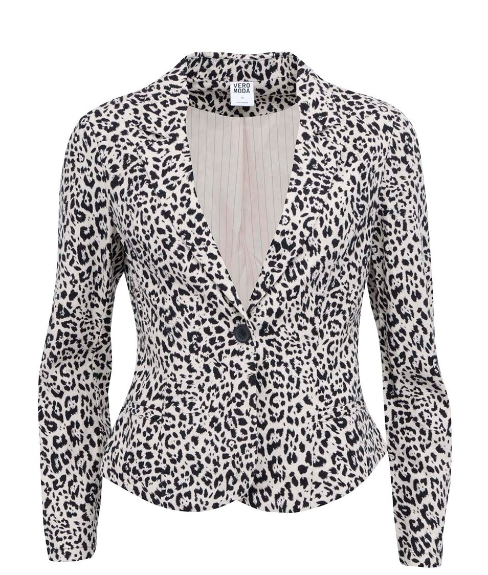 Béžové leopardí sako Vero Moda Just Alana