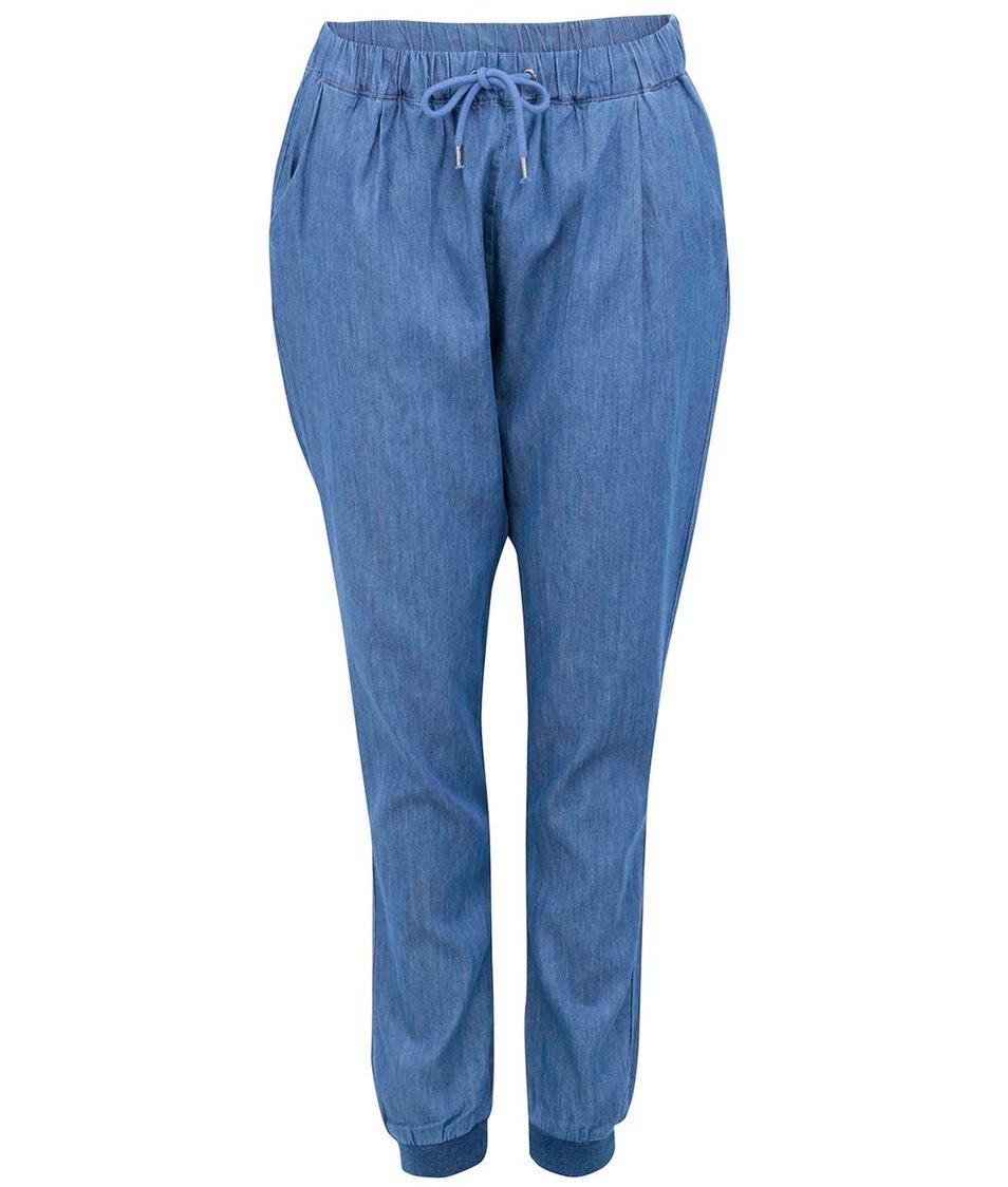 Modré denimové volné kalhoty Vero Moda Just Easy
