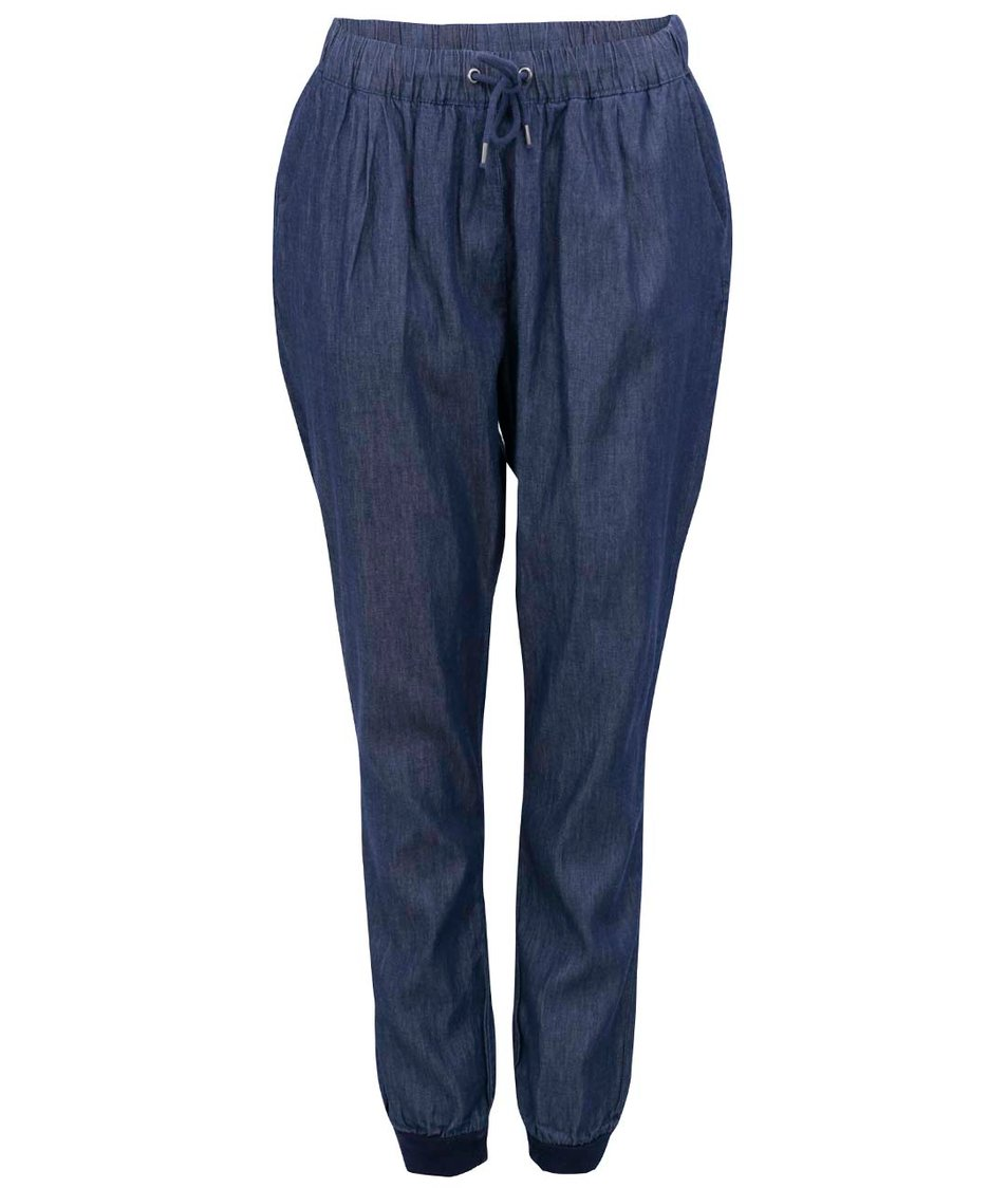 Tmavě modré denimové volné kalhoty Vero Moda Just Easy