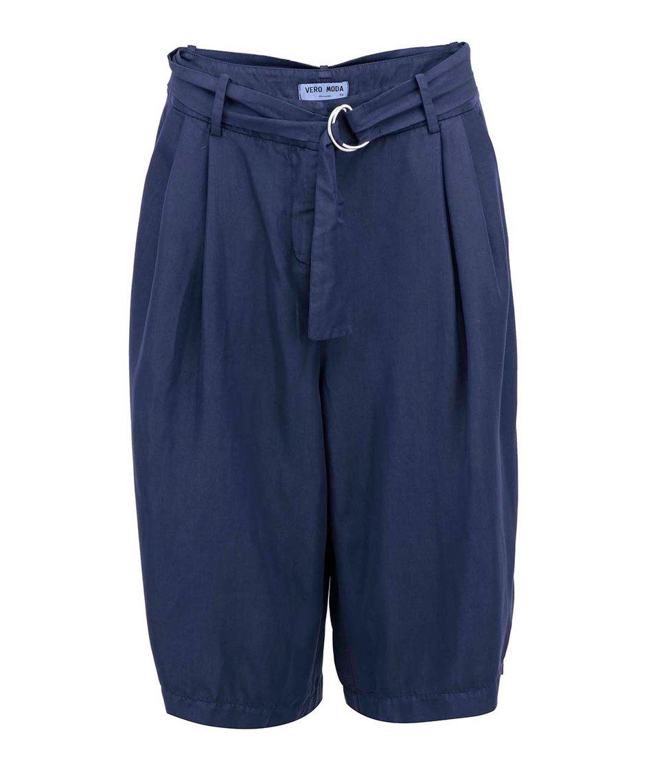 Tmavě modré volnější kalhoty Vero Moda Sussi
