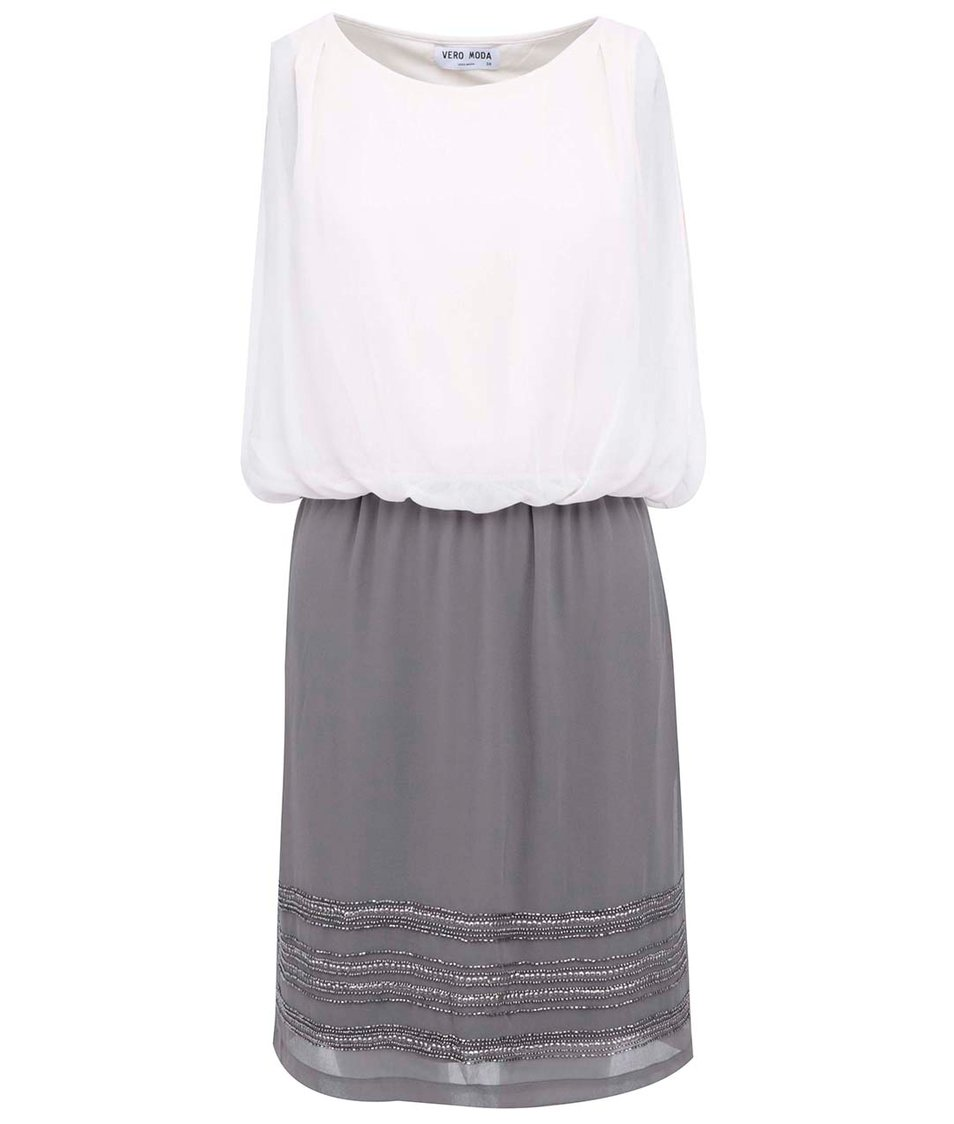 Krémovo-šedé šaty Vero Moda Sister Love