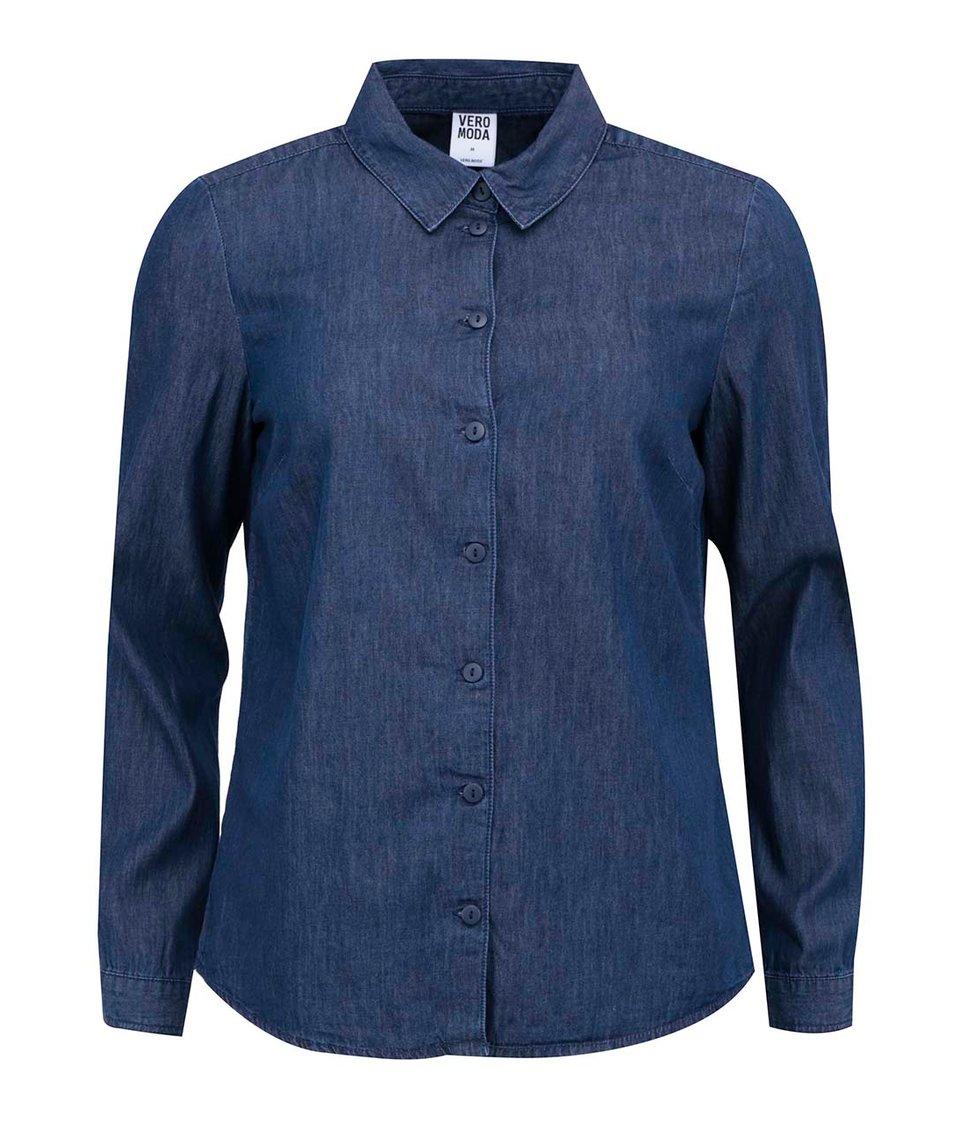 Tmavě modrá denimová košile Vero Moda Just