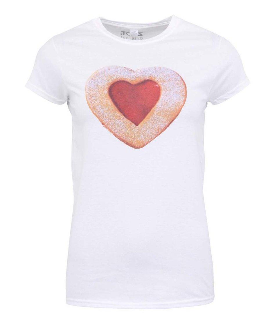 Bílé dámské tričko ZOOT Originál Linecké srdce