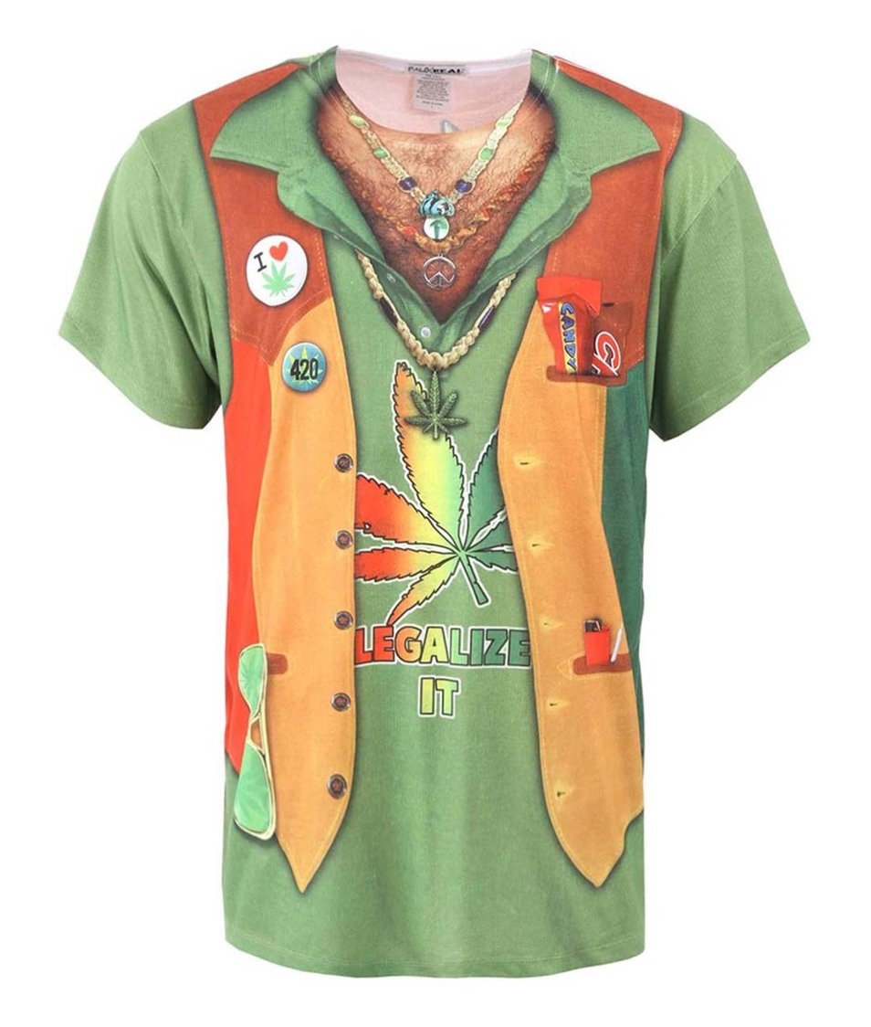 Pánské triko s potiskem Faux Real Stoner