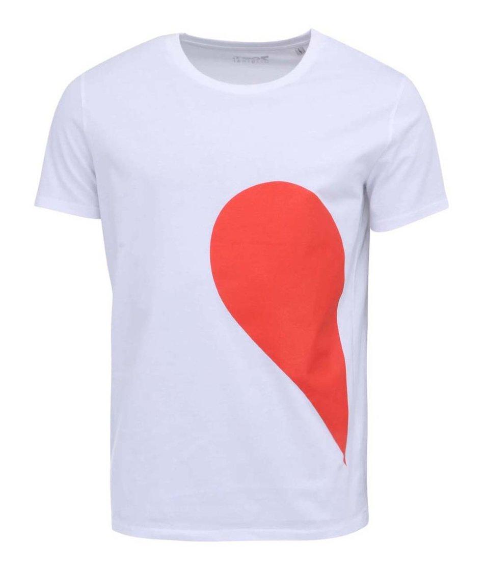 Bílé pánské triko ZOOT Originál Jeho strana srdce