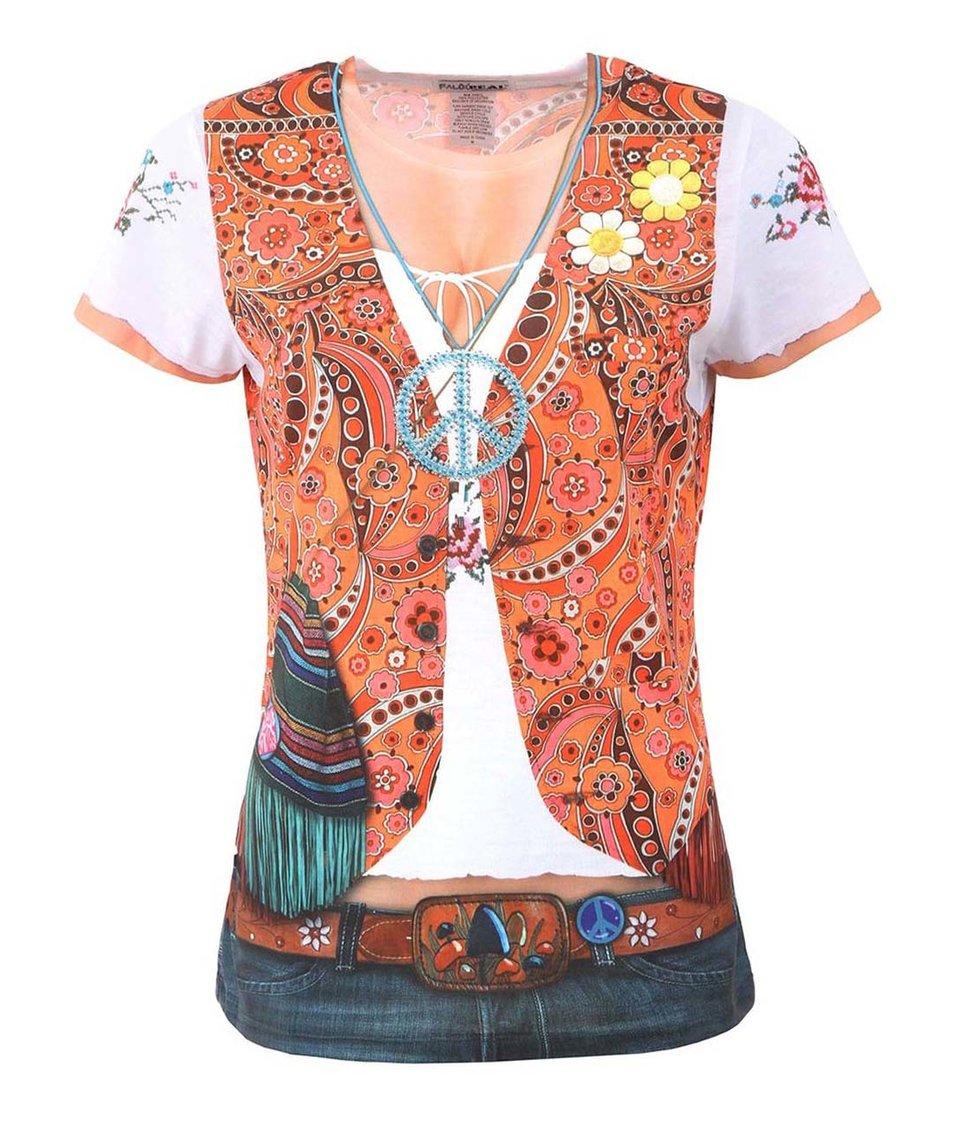 Dámské tričko s potiskem Faux Real Hippie