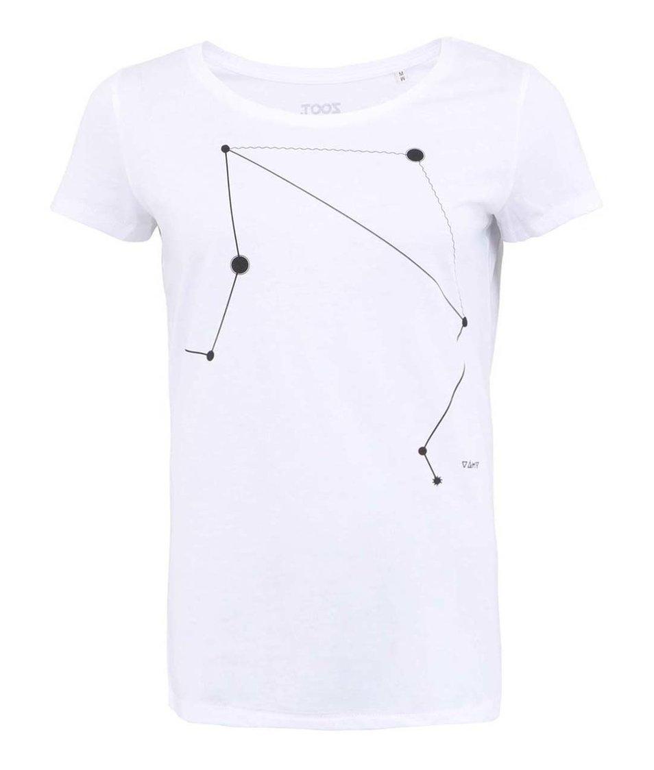 Bílé dámské triko ZOOT Lokál Váhy
