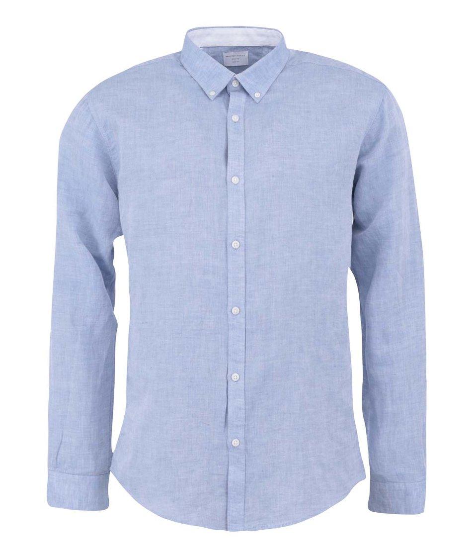 Světle modrá košile s dlouhým rukávem Selected Lino Slim Fit