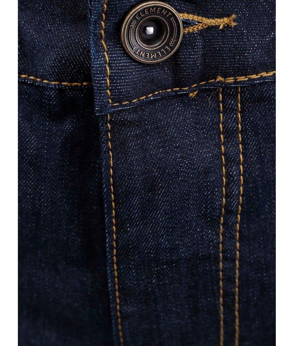 Tmavě modré slim kalhoty Element Boom Indigo Rinse