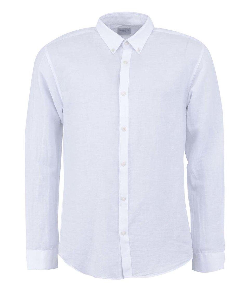 Bílá košile s dlouhým rukávem Selected Lino Slim Fit