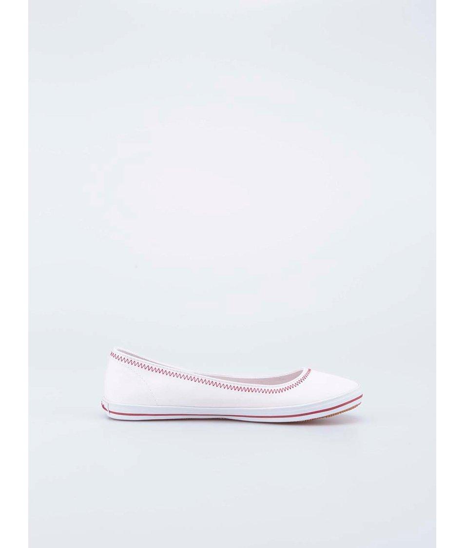Bílé plátěné balerínky U.S. Polo Assn. Gull