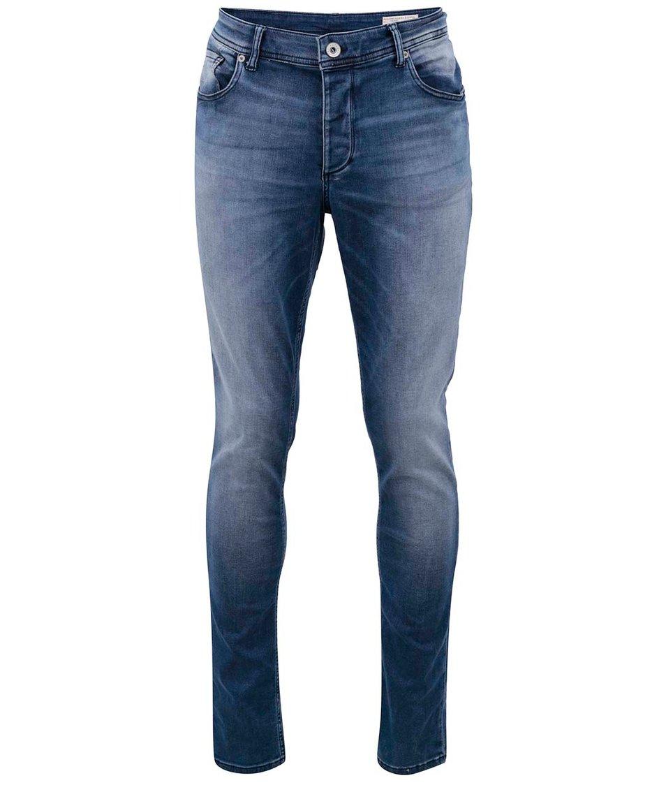 Tmavě modré vyšisované džíny Selected Pep
