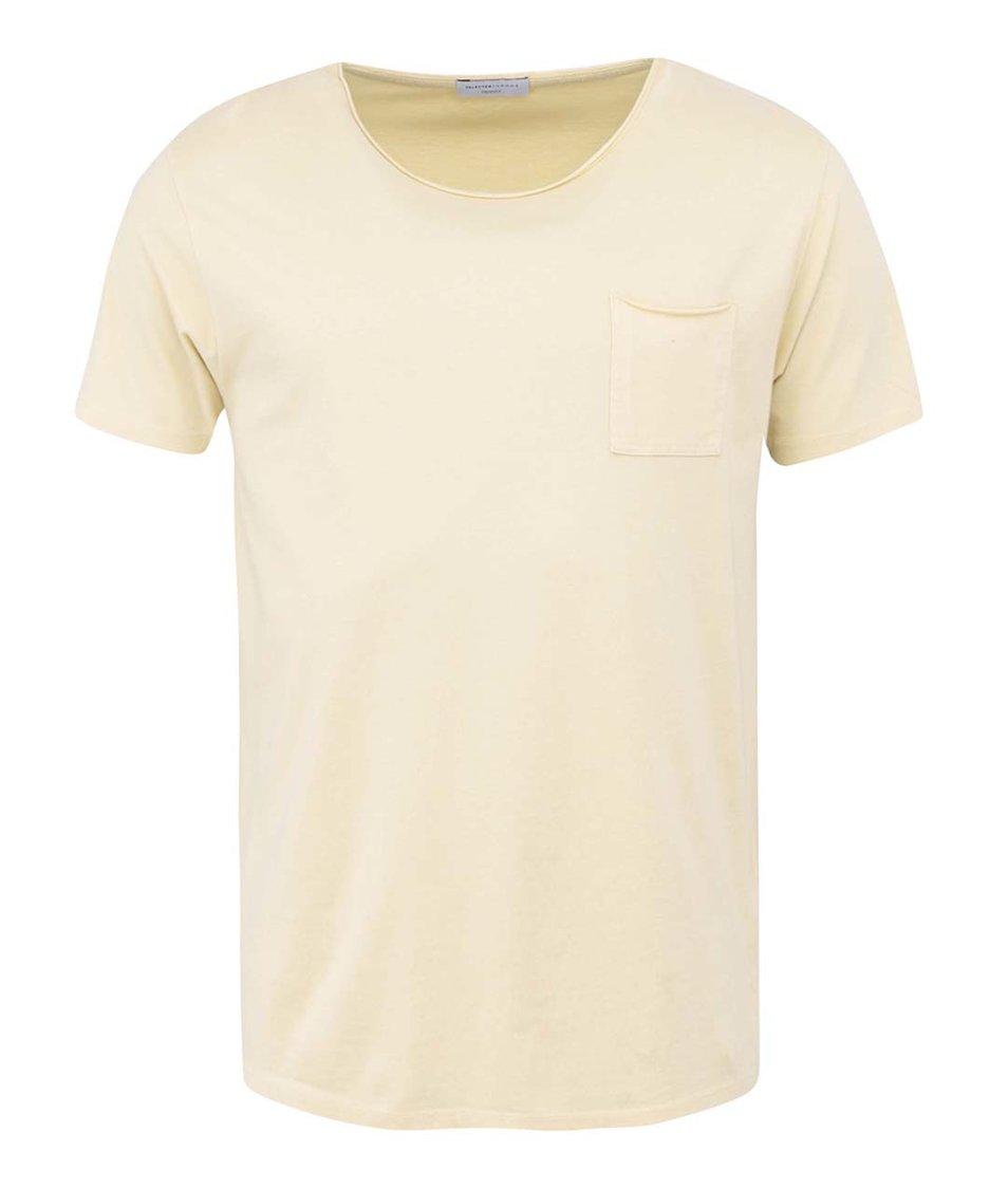 Žluté triko Selected Florence