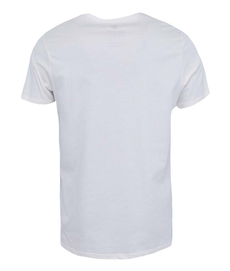 Bílé triko s potiskem Element Sky High