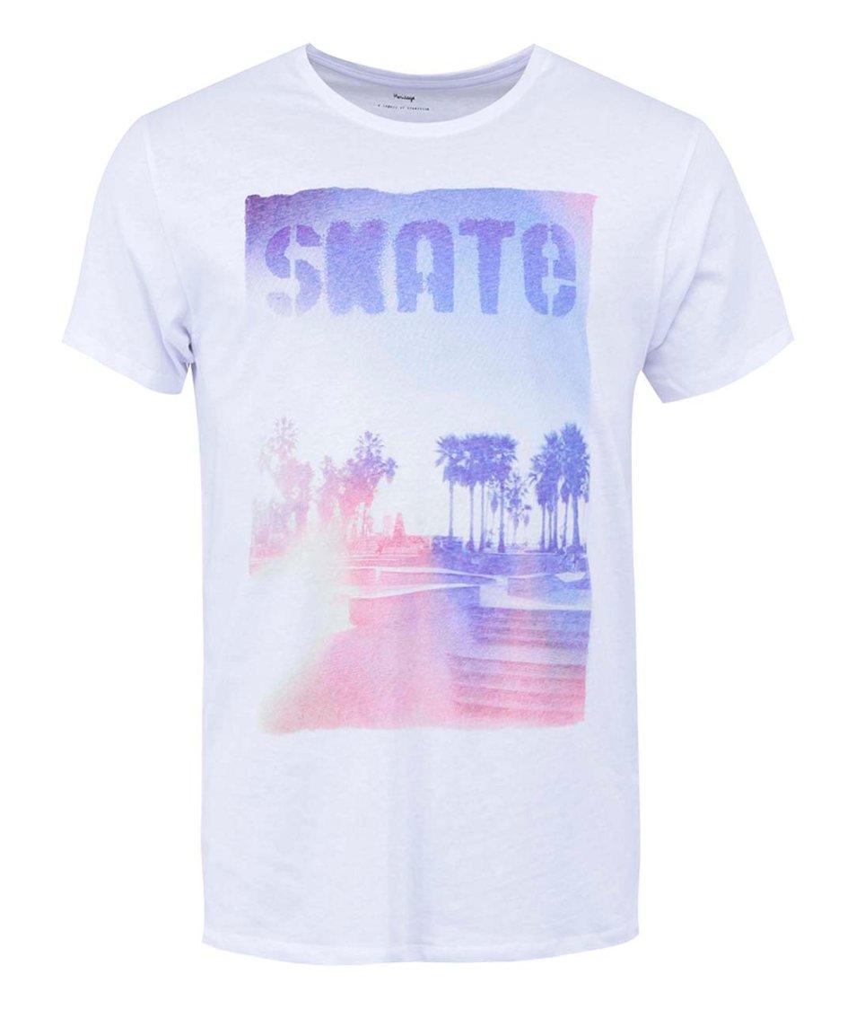 Bílé triko s potiskem Selected Sum