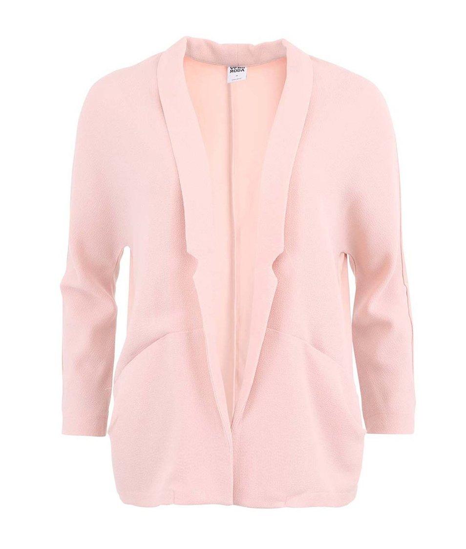 Pudrově růžový blejzr Vero Moda Daretoo