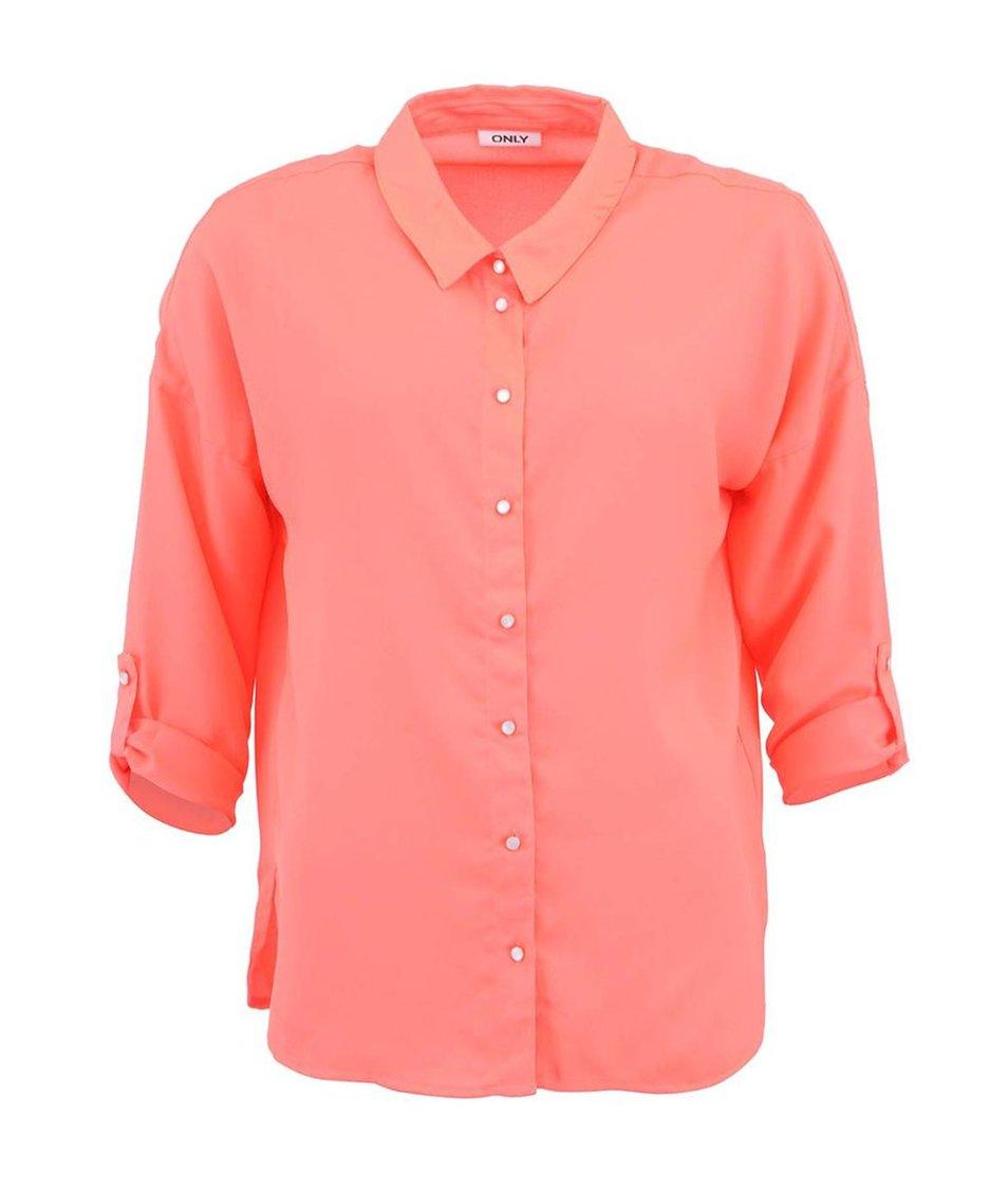 Neonově růžová košile ONLY Tabaca