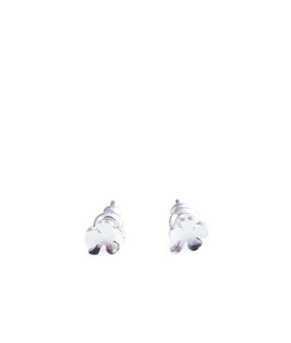 Náušnice á la čtyřlístek ve stříbrné barvě Orelia