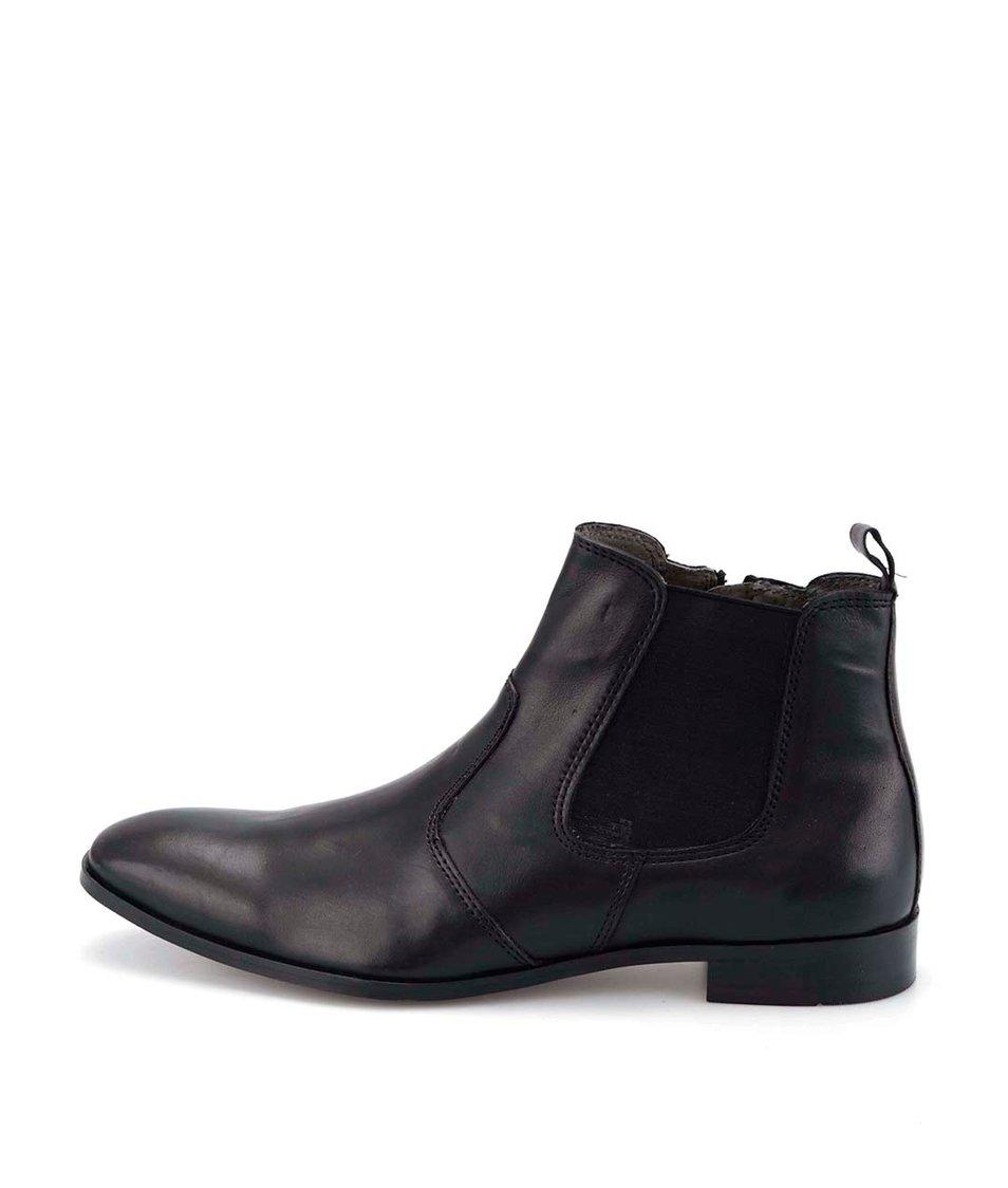 Černé kožené chelsea boty Dice Wolford