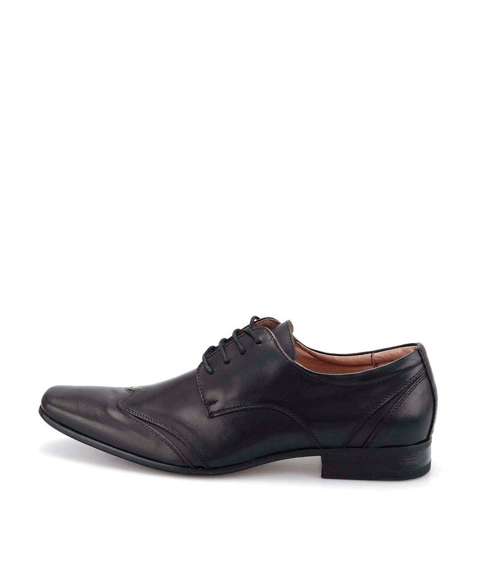 Černé kožené kotníkové boty Dice Baldon