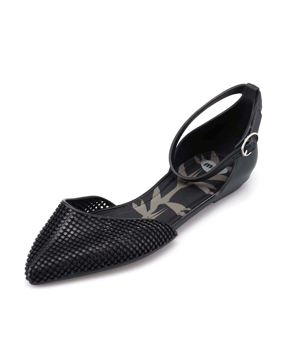 Černé plastové sandáliky Mel Pitanga