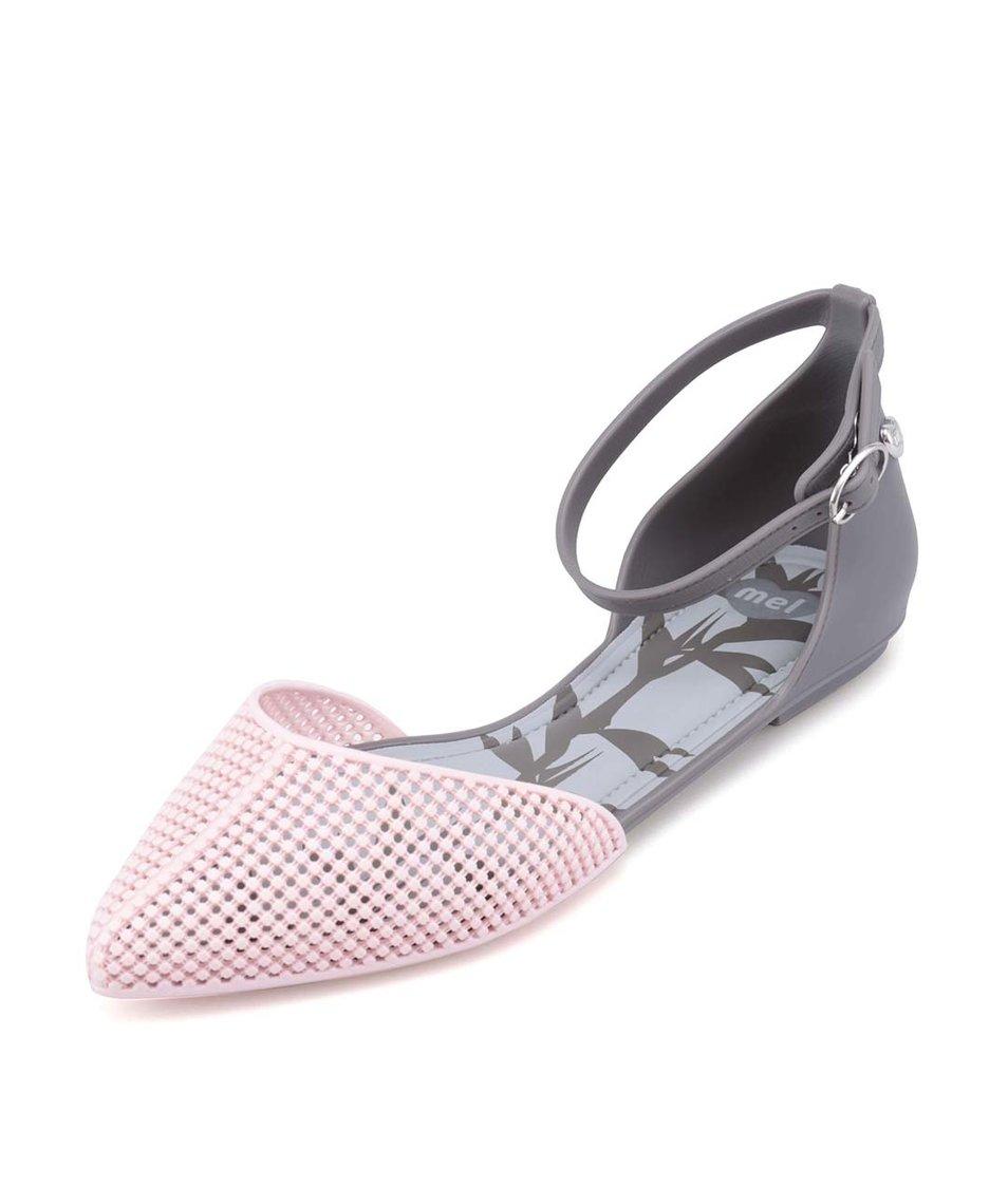 Růžovo-šedé plastové sandálky Mel Pitanga