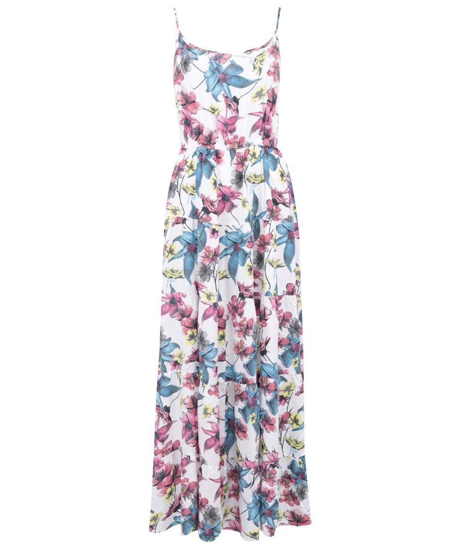 Bílé květované maxišaty ONLY Mildred Paradise
