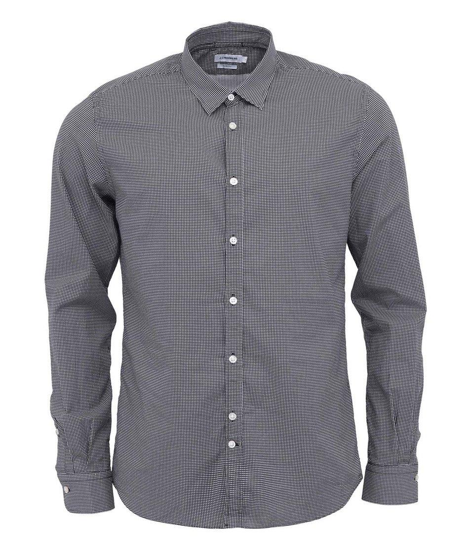 Černá puntíkovaná košile J.Lindenberg