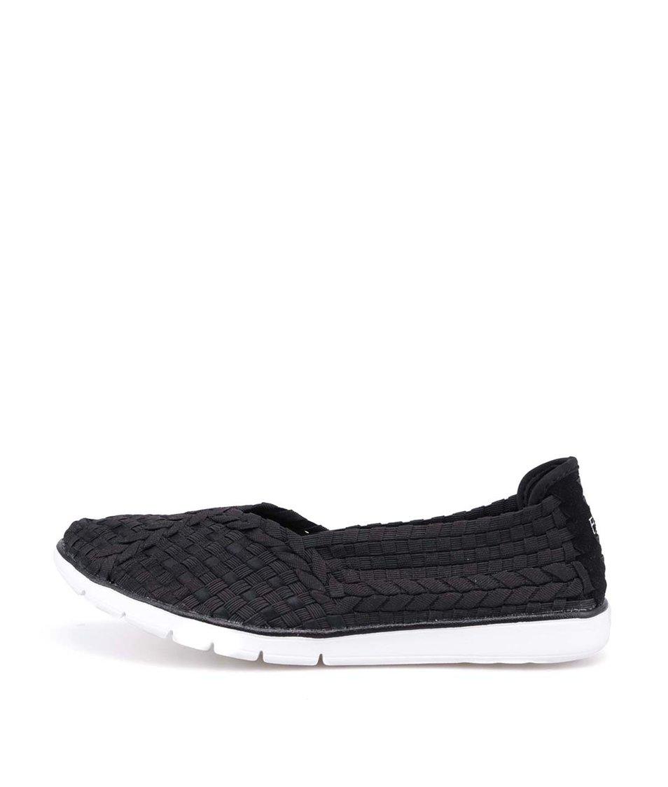 Černé pletené slip-on tenisky Skechers