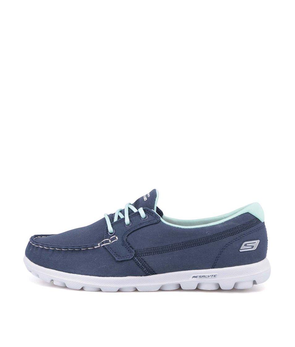 Tmavě modré sportovní tenisky Skechers