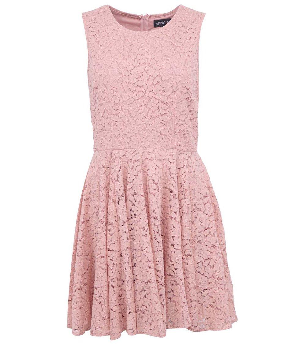 Růžové krajkované šaty Apricot