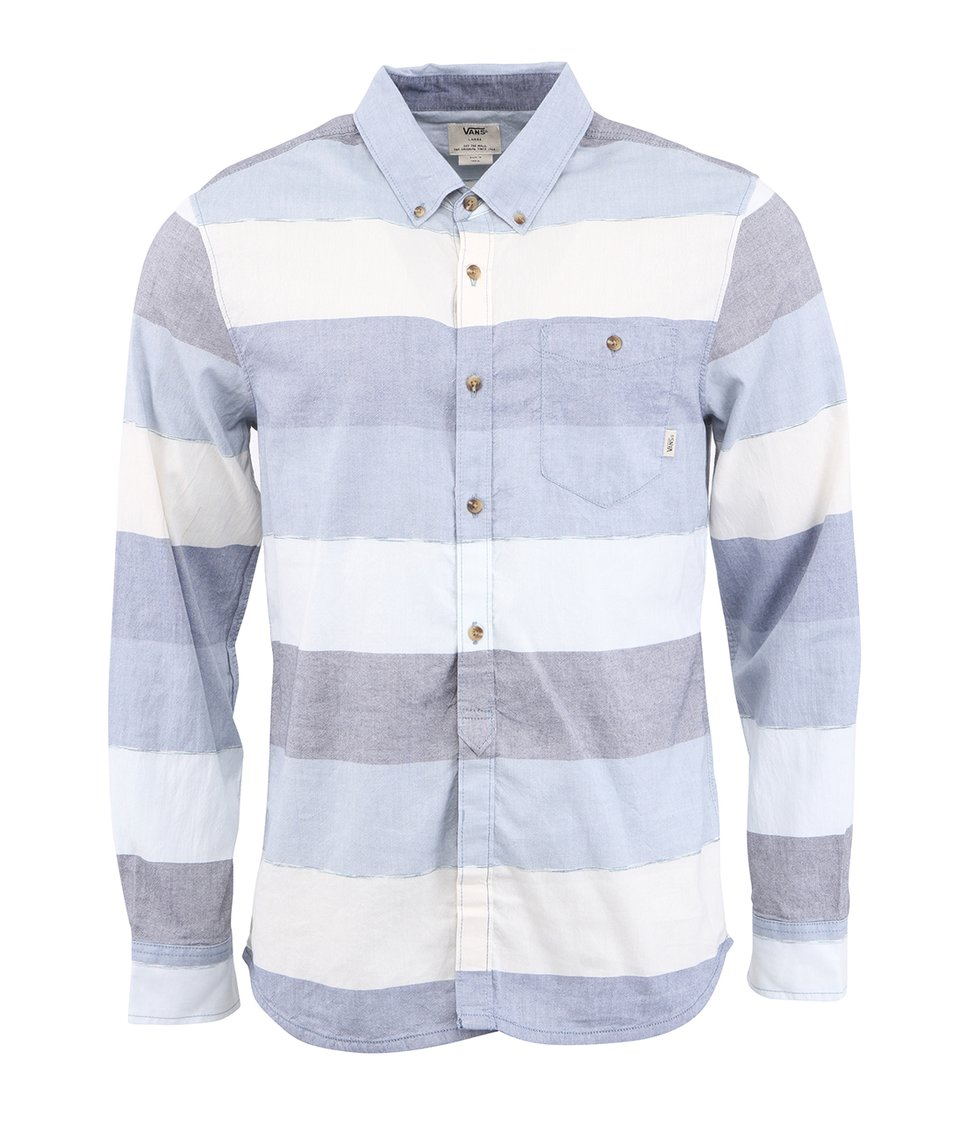 Pruhovaná košile laděná do modra Vans Swensen