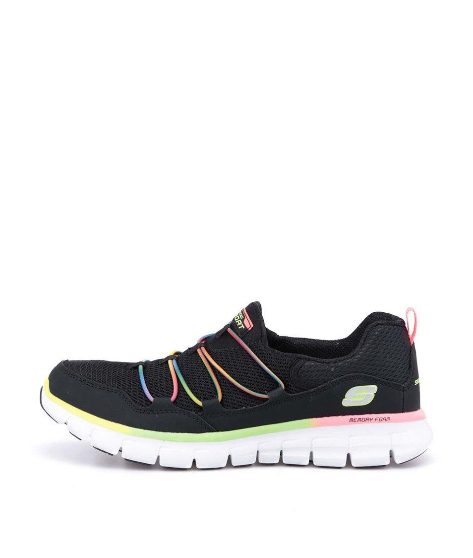 Černé sportovní tenisky s barevnými detaily Skechers