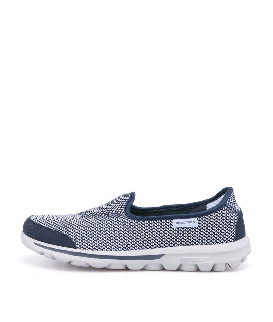 Modro-bílé sportovní tenisky Skechers