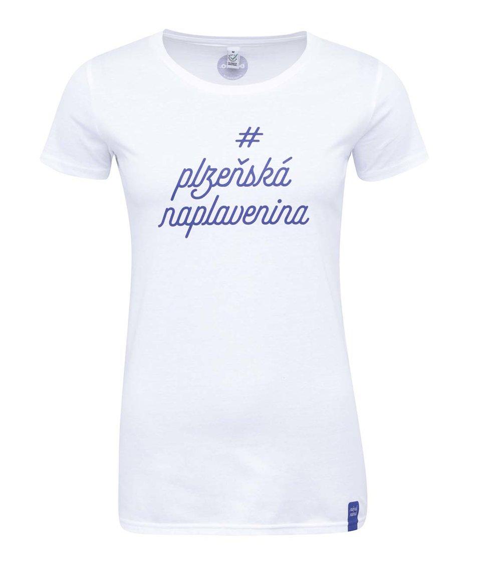 """""""Dobré"""" bílé dámské triko pro Náplavka k světu"""