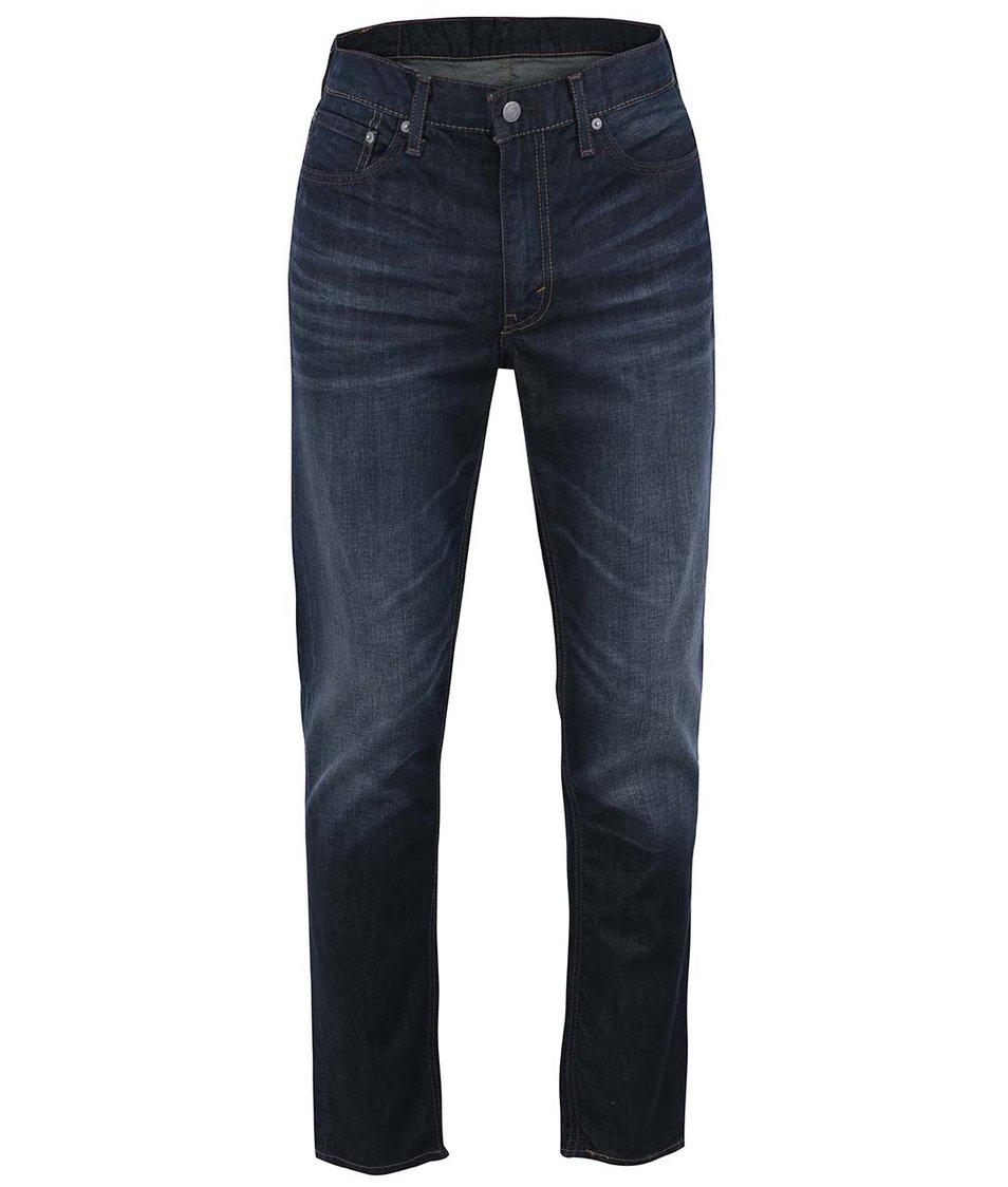 Tmavě modré pánské džíny s výrazným vyšisováním Levi's® Green Splash