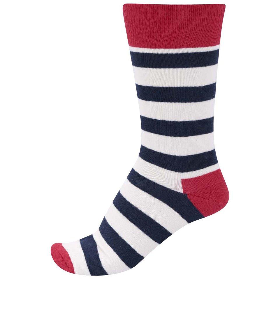 Pánské pruhované ponožky v trikoloře Happy Socks Stripe