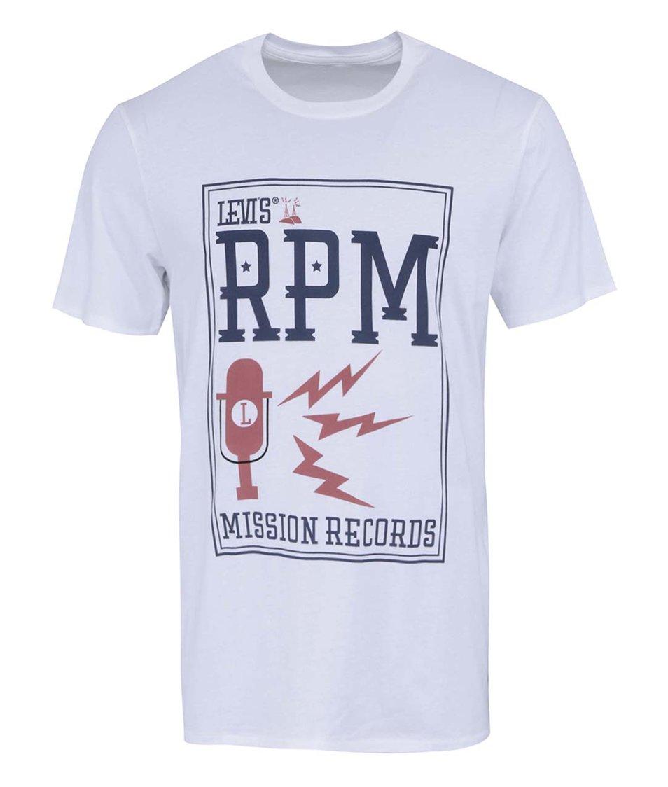 Bílé pánské triko s potiskem Levi's® Graphic Set