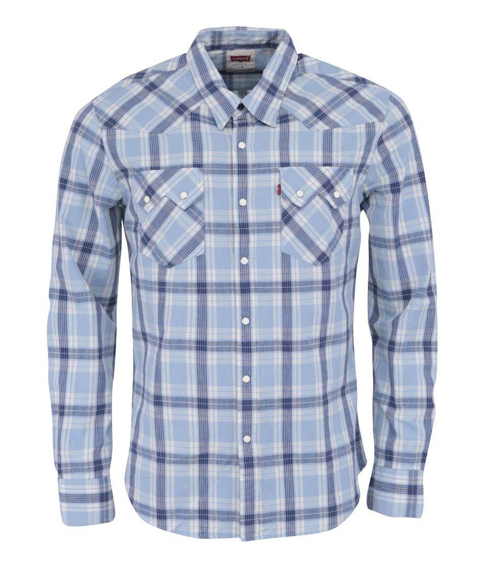 Modrá pánská kostkovaná košile Levi's® Sawtooth Western
